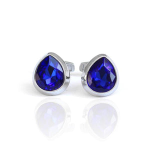 Blue PearlSuper Stainless Steel French Style Stud With Gift Packaging