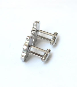 Apple Cufflink Stainless Steel Stud - RHIZMALL.PK Online Shopping Store.