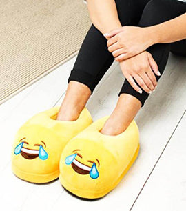 Emoji Slipper Laughing Warm and Comfortable - RHIZMALL.PK Online Shopping Store.