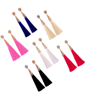 Crown Crystal Tassel Earring - RHIZMALL.PK Online Shopping Store.