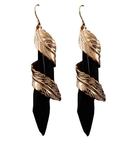 Boneta Feather Drop Earring