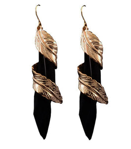 Boneta Feather Drop Earring - RHIZMALL.PK Online Shopping Store.