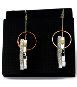 Double Loop Stylish Drop Earring - RHIZMALL.PK Online Shopping Store.