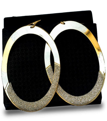 Golden Hoop Dangle Drop Earring - RHIZMALL.PK Online Shopping Store.