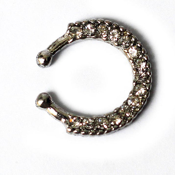 Silver Crystal Nose Pin - RHIZMALL.PK Online Shopping Store.