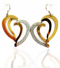 Golden Heart Drop Earrings - RHIZMALL.PK Online Shopping Store.
