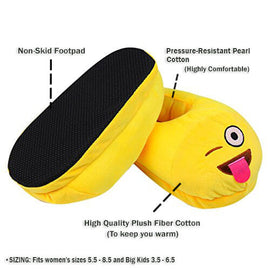 Emoji Slipper Teasing Tongue Warm Comfortable - RHIZMALL.PK Online Shopping Store.