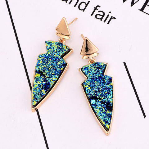 Triangle Drop Cosmos Earring - RHIZMALL.PK Online Shopping Store.