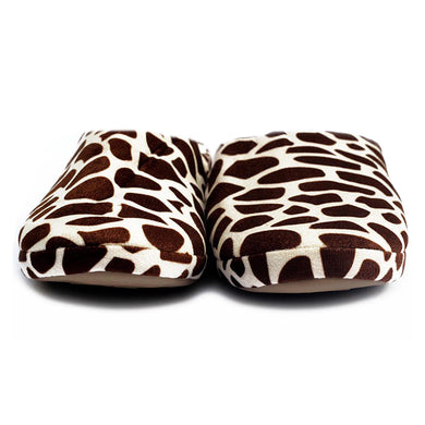 Zebra Pattern Brown Warm Woolen Foam Slippers - RHIZMALL.PK Online Shopping Store.
