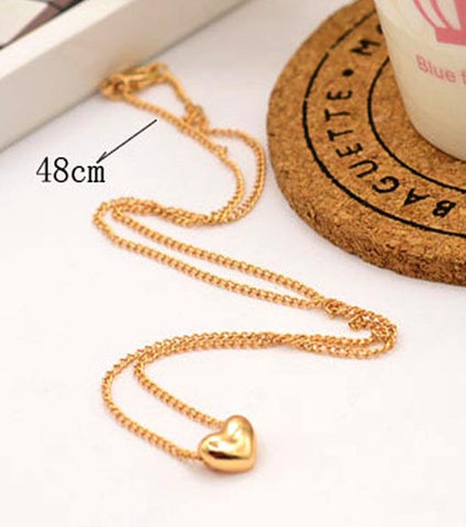 Amour Love Golden Necklace - RHIZMALL.PK Online Shopping Store.