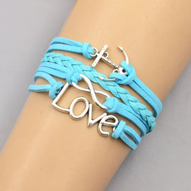 Blue Alloy Love Bracelet - RHIZMALL.PK Online Shopping Store.