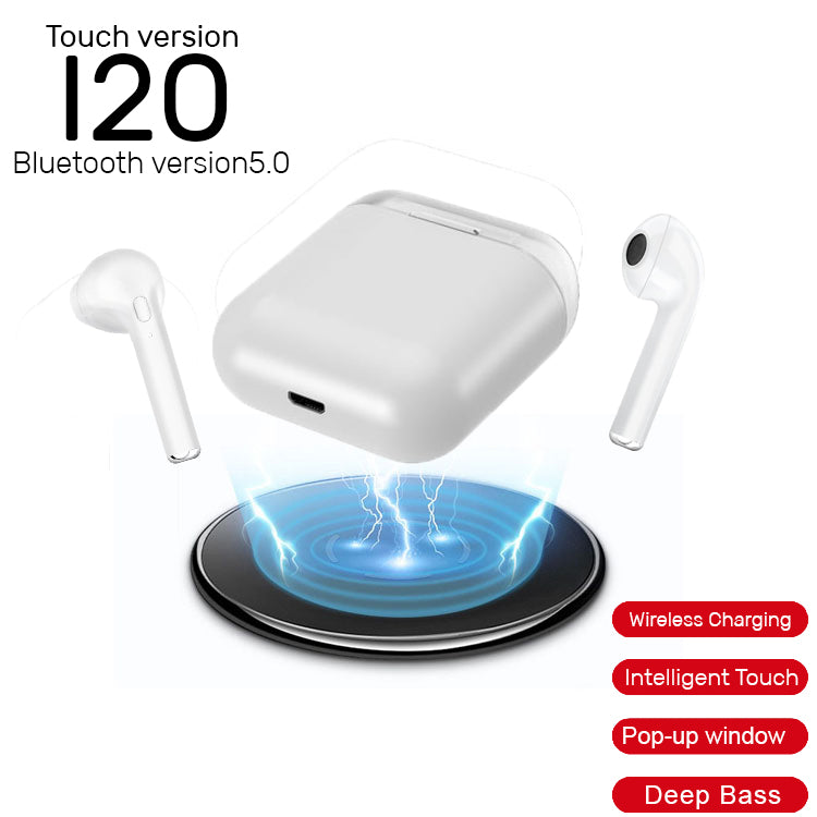 I20 TWS Wireless Earphones Stereo Earbud in-Ear Binaural Call Earbuds - RHIZMALL.PK Online Shopping Store.