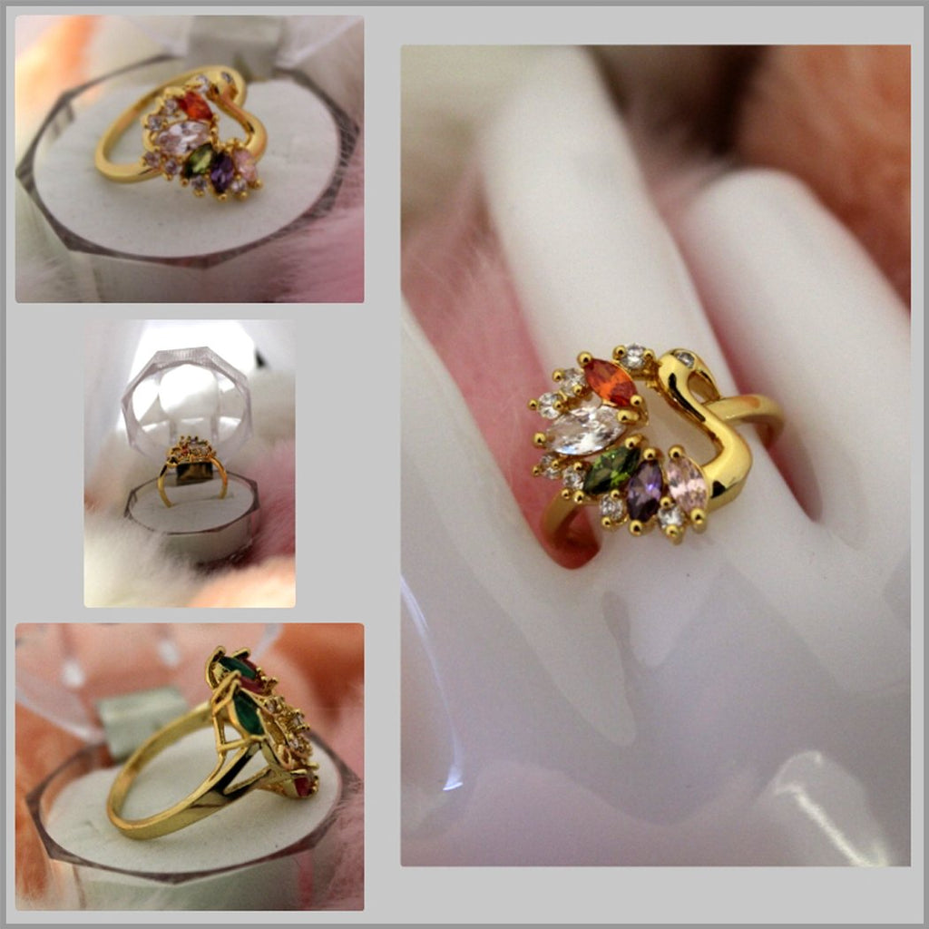 Amber Five Crystal Ring - RHIZMALL.PK Online Shopping Store.
