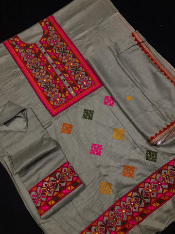 Botique Marina Staple Unstitched Embroided Suit - RHIZMALL.PK Online Shopping Store.