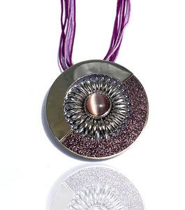 Amber Circle Purple Necklace - RHIZMALL.PK Online Shopping Store.