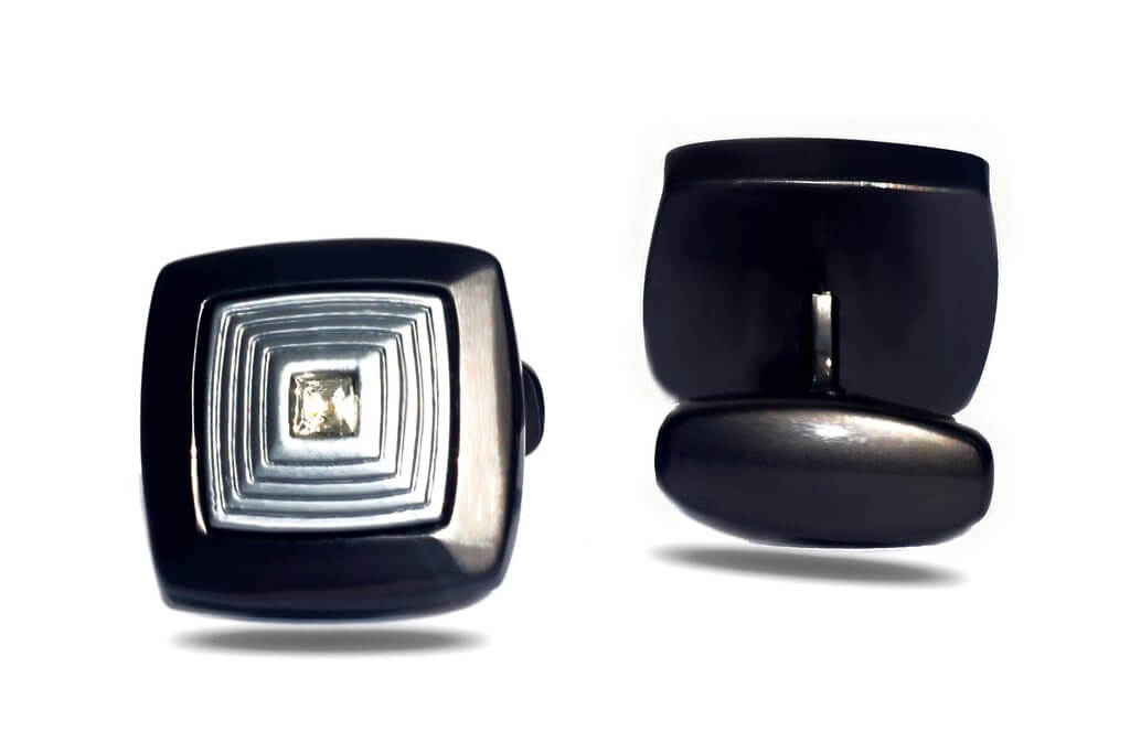 Square Electroplate Luxury Cufflink - RHIZMALL.PK Online Shopping Store.