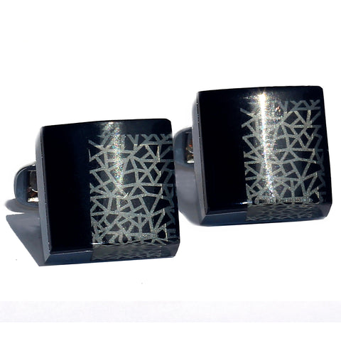 Twisted Vendey Stainless Steel Cufflink - RHIZMALL.PK Online Shopping Store.