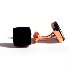 Black Onyx Luxury Gold Cufflink - RHIZMALL.PK Online Shopping Store.