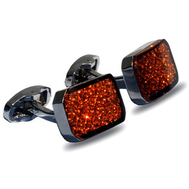 Orange Star Stainless Steel Cufflink - RHIZMALL.PK Online Shopping Store.