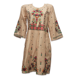 Clay Sepia straight kurti - RHIZMALL.PK Online Shopping Store.