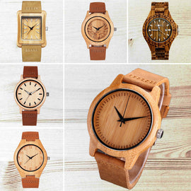 Jubaolie Wood Watches for Men and Women - RHIZMALL.PK Online Shopping Store.