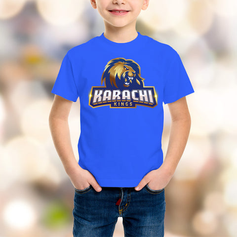 Karachi King Kids Blue T-Shirt - RHIZMALL.PK Online Shopping Store.