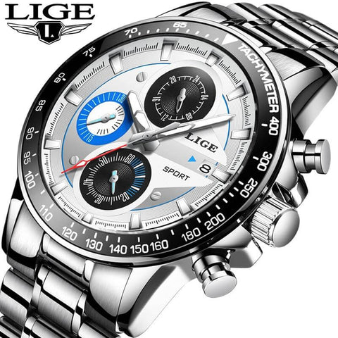 LIGE Military Men's Sport Quartz Watch - RHIZMALL.PK Online Shopping Store.