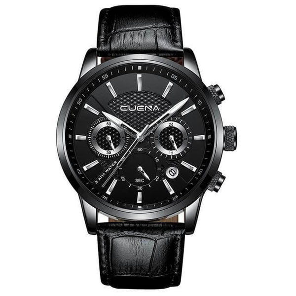 Luminous Hands Genuine Leather 30M Waterproof Clock Man - RHIZMALL.PK Online Shopping Store.