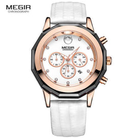 Megir Women's 24-hour Chronograph Wristwatch