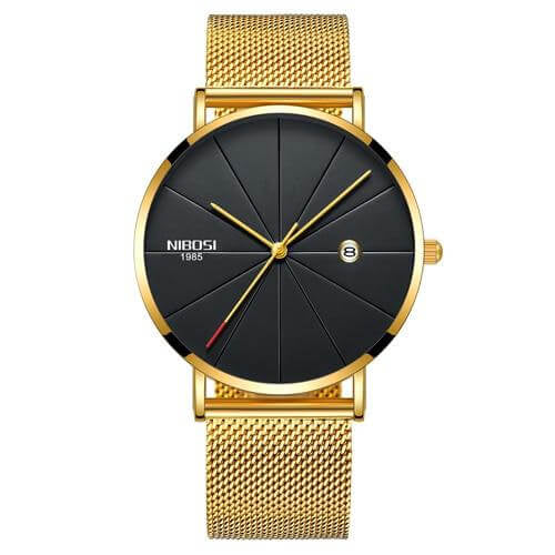 Rose Blue NIBOSI Ultra Thin Fashion Unisex Waterproof Quartz Watch - RHIZMALL.PK Online Shopping Store.