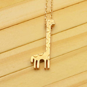 Gold Giraffe Necklace - RHIZMALL.PK Online Shopping Store.