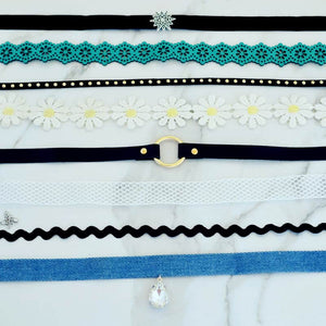 Set of 8 - Multi Choker - RHIZMALL.PK Online Shopping Store.