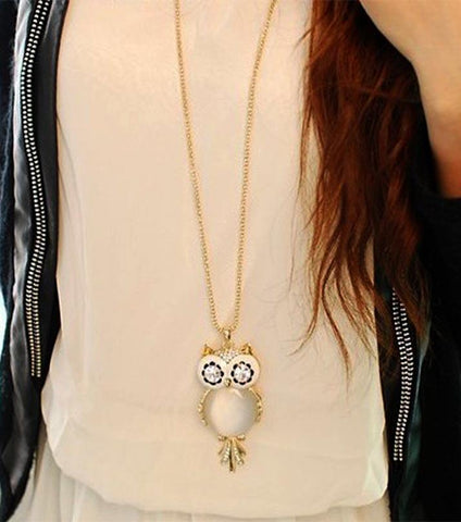 Denae Luxury Owl Necklace And Pendent - RHIZMALL.PK Online Shopping Store.
