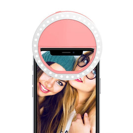 Pink Selfie Ring Light for Any Cell Phone - RHIZMALL.PK Online Shopping Store.