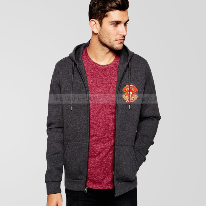Islamabad United  Charcoal Grey Zipper Hoodie - RHIZMALL.PK Online Shopping Store.