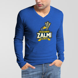 Peshawar Zalmi PSL V-Neck Full Sleeves T-Shirt - RHIZMALL.PK Online Shopping Store.