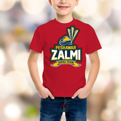 Peshawar Zalmi Kids Red T-Shirt - RHIZMALL.PK Online Shopping Store.