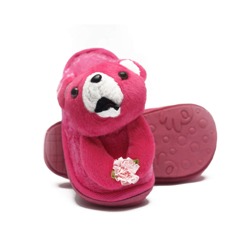 Pinky Doggy Kids Warm Woolen Slippers