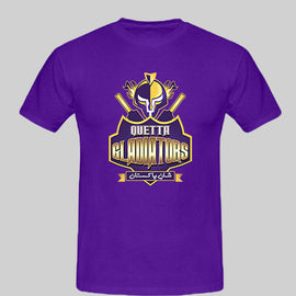 Purple PSL Quetta Gladiators Logo TShirt - RHIZMALL.PK Online Shopping Store.