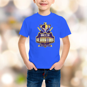 Quetta Gladiators Kids Blue T-Shirt - RHIZMALL.PK Online Shopping Store.