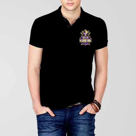Quetta Gladiators Black PSL Polo T-Shirt - RHIZMALL.PK Online Shopping Store.