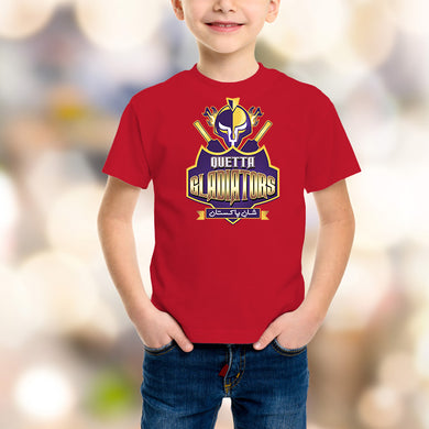 Quetta Gladiators Kids Red T-Shirt - RHIZMALL.PK Online Shopping Store.