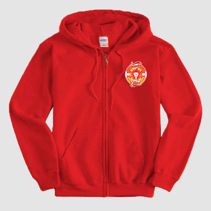 Islamabad United  PSL Red Zipper Hoodie - RHIZMALL.PK Online Shopping Store.