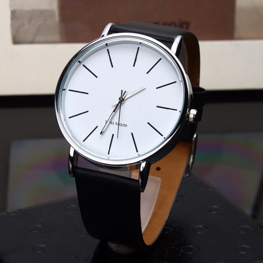 Men Quartz Leather Watch - RHIZMALL.PK Online Shopping Store.