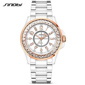 SINOBI Fashion Women Diamonds Wrist Watch