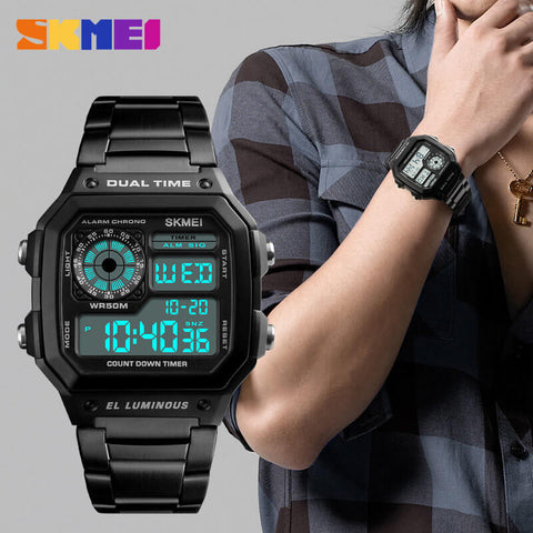 SKEMI Stainless Steel Countdown Fashion Watch