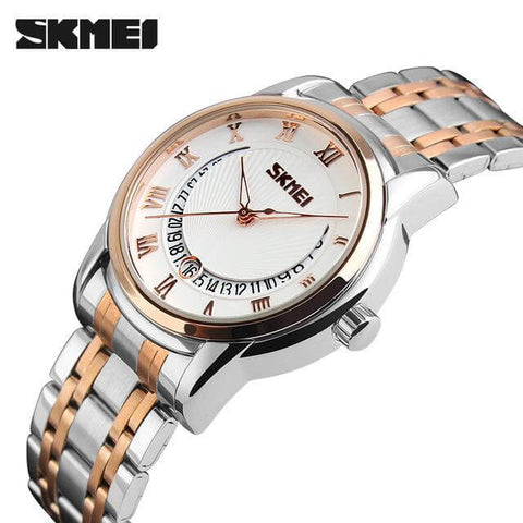 SKMEI Luxury Stainless Steel Men's Quartz