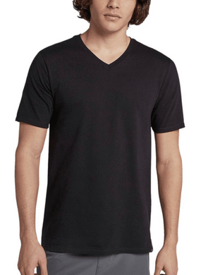 Black V-Neck Half Sleeves T-Shirt - RHIZMALL.PK Online Shopping Store.