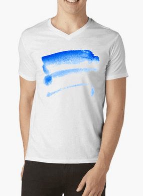 Brush Strokes Logo V-Neck T-shirt - RHIZMALL.PK Online Shopping Store.