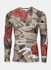 Think Outside The Box Longsleeve Rashguard T-Shirts - RHIZMALL.PK Online Shopping Store.